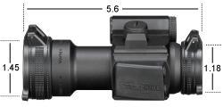 SF-RG-501 Vortex Optics StrikeFire II Red Dot (4 MOA) Lower 1/3 CO-Witness Cantilever 1