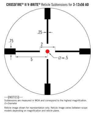 CF2-31049 Vortex Optics Crossfire II 3-12X56 AO HOG Hunter Riflescope (MOA) - slightly used 2