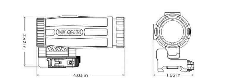 Holosun HM3X Red Dot / 3x Mangifier/Flip with QD Mount 1