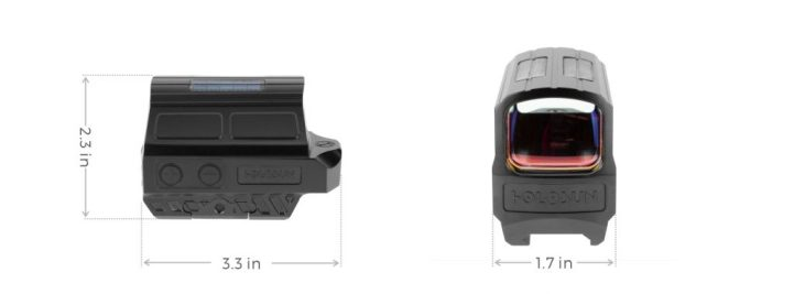Holosun HE512T-GR Green Dot / Circle Dot Reflex Sight With Solar Panel and Titanium 1