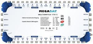 Multiswitch kaskadowy Megasat 17/8 C + zasilacz