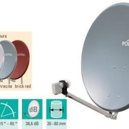 Antena SAT aluminiowa POLYTRON OSP 85 antracyt