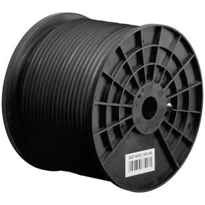 Kabel RG6 PE A Class UV Warsztatowski czarny 100m