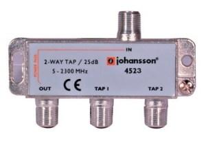 2 WAY TAP OdgałęŸnik 2-krotny Johansson 25 dB 4523