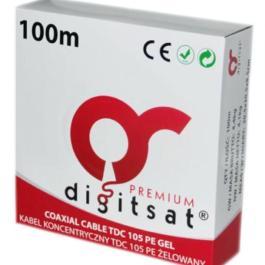 kabel RG6 1,02 CU GEL TDC105 oplot x128 100m