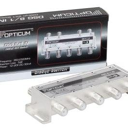Przełšcznik DiSEqC Opticum DSG 8/1 IN