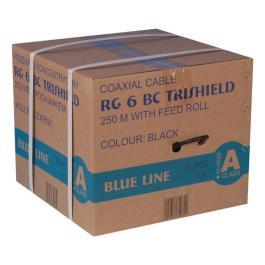 Kabel RG6U BC Trischield (Karton 250mb) - Czarny