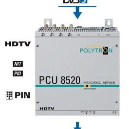 Stacja POLYTRON PCU 8520 8x DVB-S/S2 na 8x DVB-T