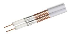 Kabel RG6 Revez CT63 Twin pełna miedŸ biały 50m