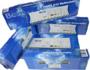 Multiswitch BEST HQMS 17/16 + zasilacz impulsowy