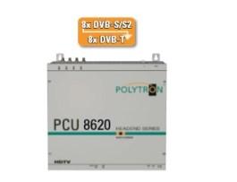 Stacja POLYTRON PCU 8620 4x8 DVB-S/S2 na 8xDVB-T