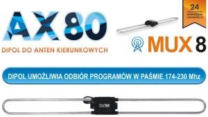 Dipol VHF do anten kierunkowych AX80