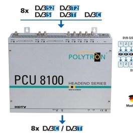 Stacja POLYTRON PCU 8122 8xS2/T2/C na 8x DVB-T CI