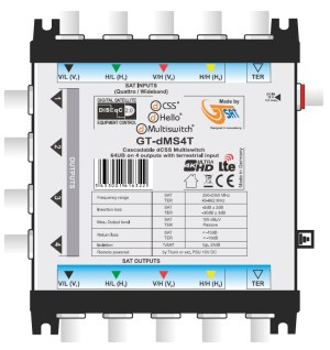 Multiswitch Unicable II GT-SAT GT-dMS4T 4x16UB