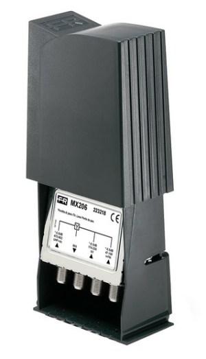 Zwrotnica masztowa Fracarro MX206, FM+VHF+UHF