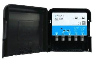 Alcad Wzmacniacz Masztowy AM-487 32dB 2xUHF VHF FM