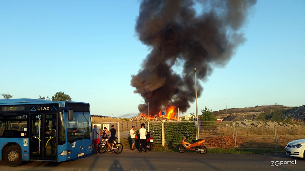 požar na reciklažnom dvorištu prudinec - jakuševec / zagreb 2019