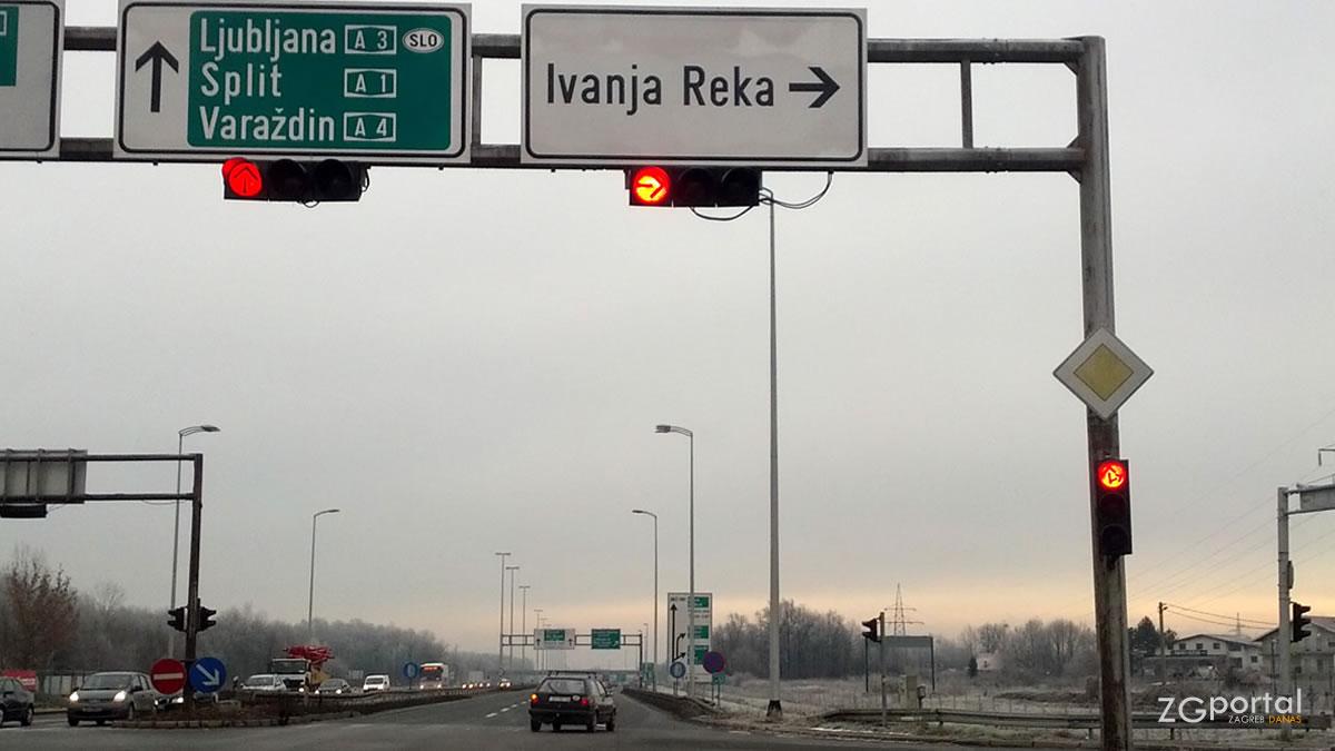 slavonska avenija / skretanje za ivanju reku / siječanj 2017.