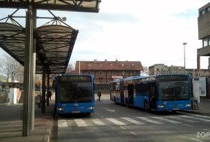 glavni kolodovor zagreb / autobusne linije ZET-a 221 i 268 / prosinac 2013.
