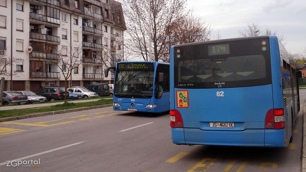 zet bus 172 i 174 / terminal zaprešić / ožujak 2016.