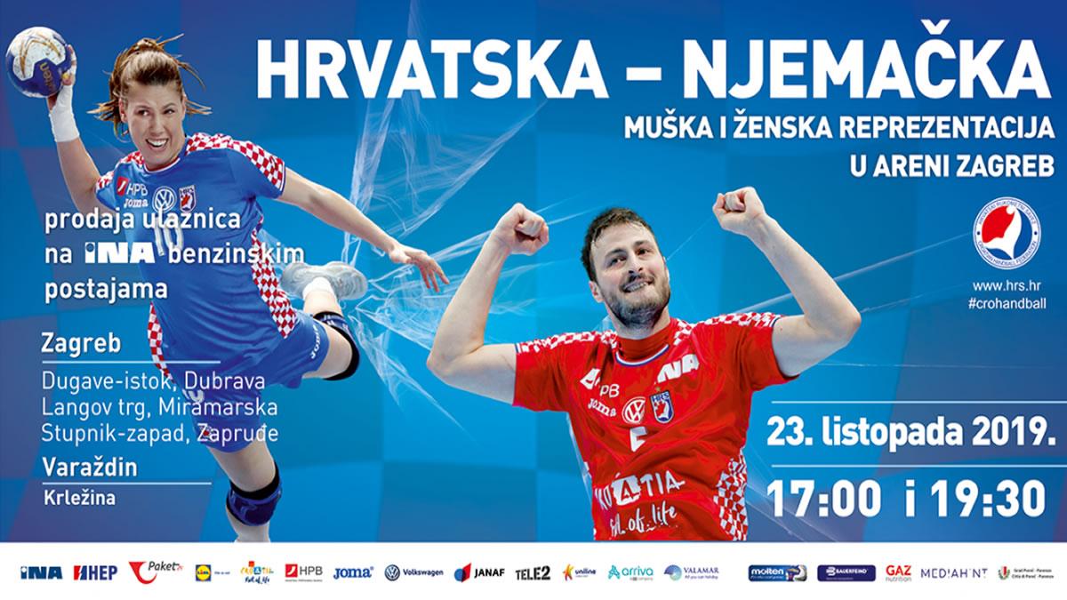 rukomet / hrvatska - njemačka / arena zagreb 2019
