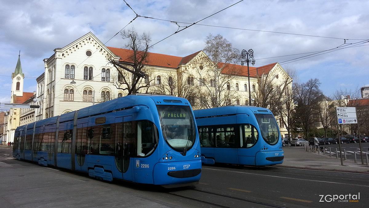 tramva broj 17 / trg republike hrvatske, zagreb
