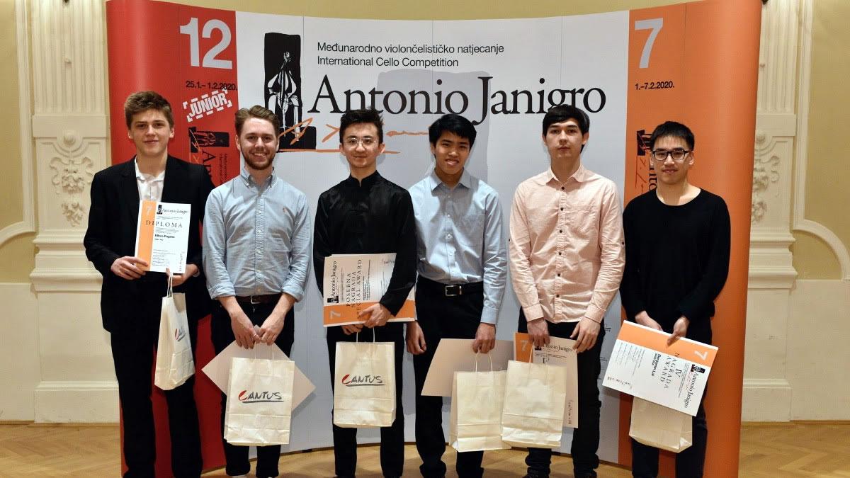 violončelisticko natjecanje antonio janigro / zagreb 2020