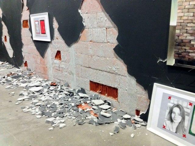 muzej suvremene umjetnosti zagreb - urušavanje zida nakon potresa - 2020