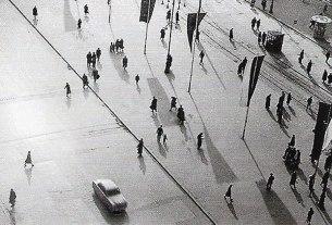 mladen tudor - zagreb, trg bana jelačića - 1954