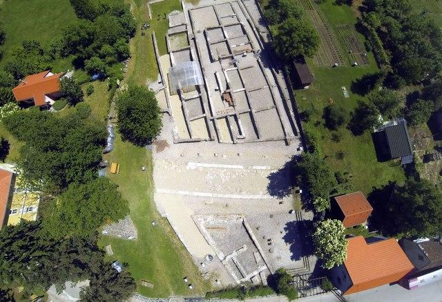 arheološki park ščitarjevo - drone foto 2020