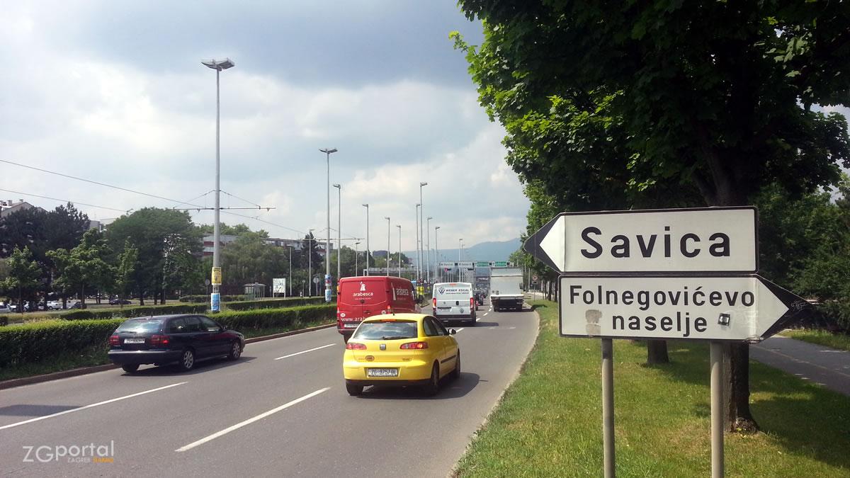 avenija marina držića, zagreb - folnegovićevo naselje - savica - lipanj 2017.