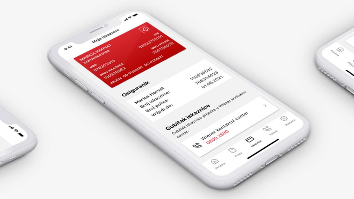 moj wiener - mobilna aplikacija - wiener osiguranje - 2020
