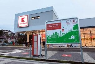 kaufland barutanski jarak zagreb - punionica za električna vozila - 2020.
