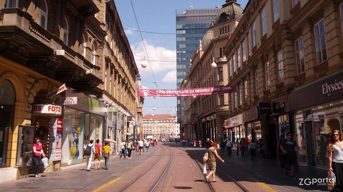 neboder na trgu, ilica, zagreb - lipanj 2015.