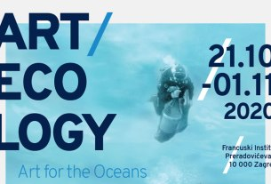 "izložba ""art ecology - art for the oceans"" - francuski institut - 2020"