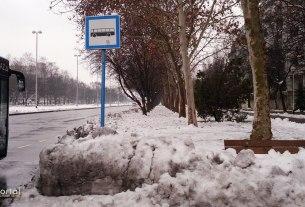 snijeg u zagrebu - vatikanska ulica, zagreb - veljača 2014.