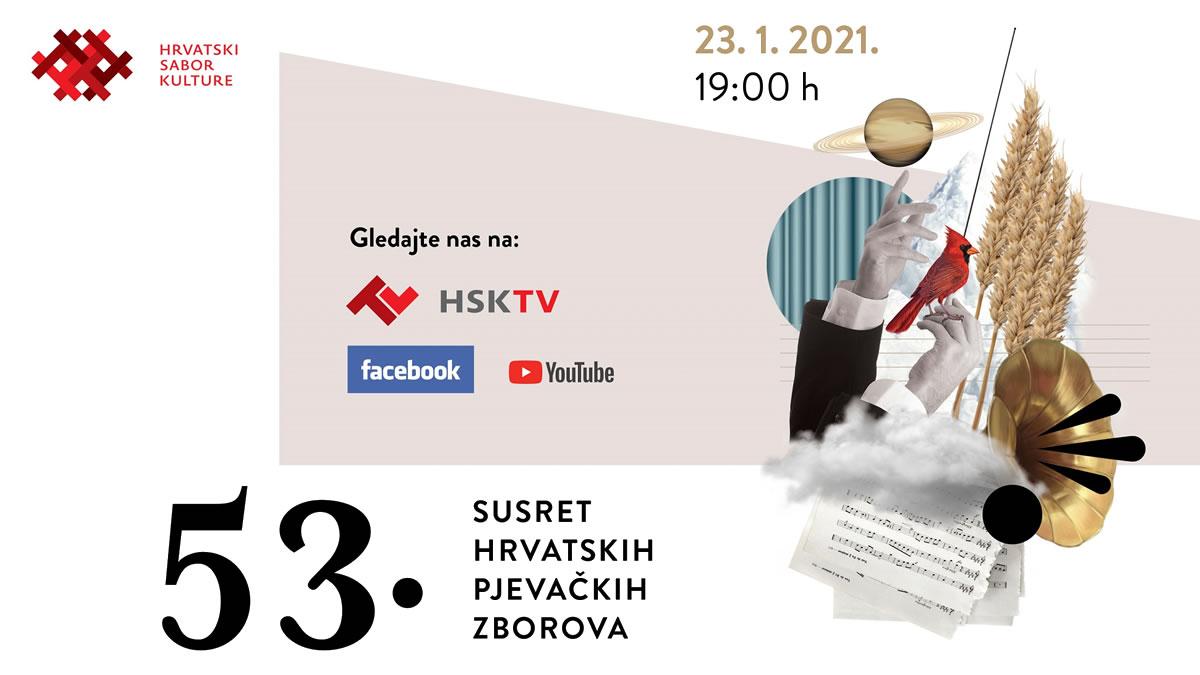 53. susret hrvatskih pjevačkih zborova 2021