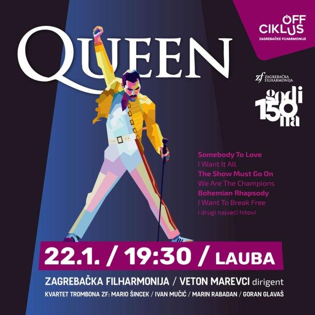 zagrebačka filharmonija u laubi svira hitove grupe queen / 2021