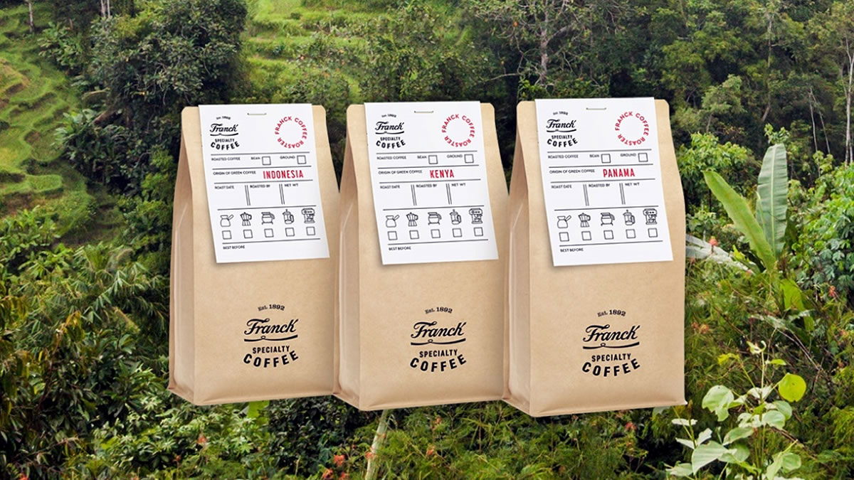 franck specialty coffee - 2021 - kenya, panama & indonesia coffee