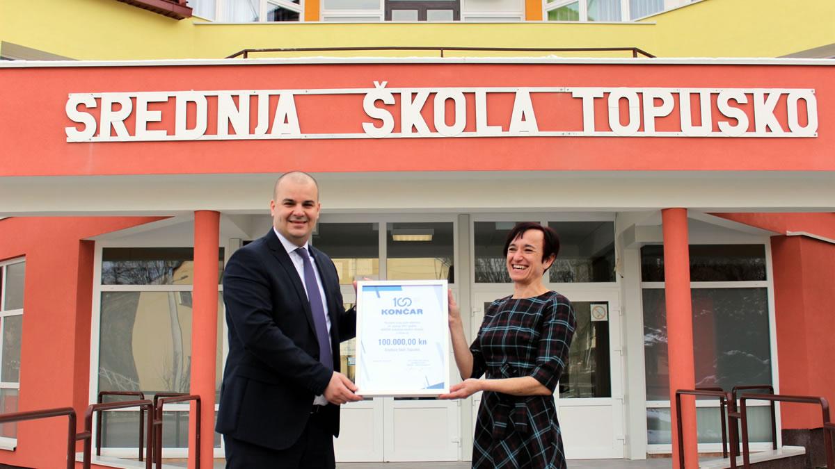 končar donacija / josip lasić, končar / željka gajdek, srednja škola topusko / 2021.
