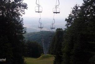 ski lift - sljeme, medvednica, zagreb - srpanj 2015.