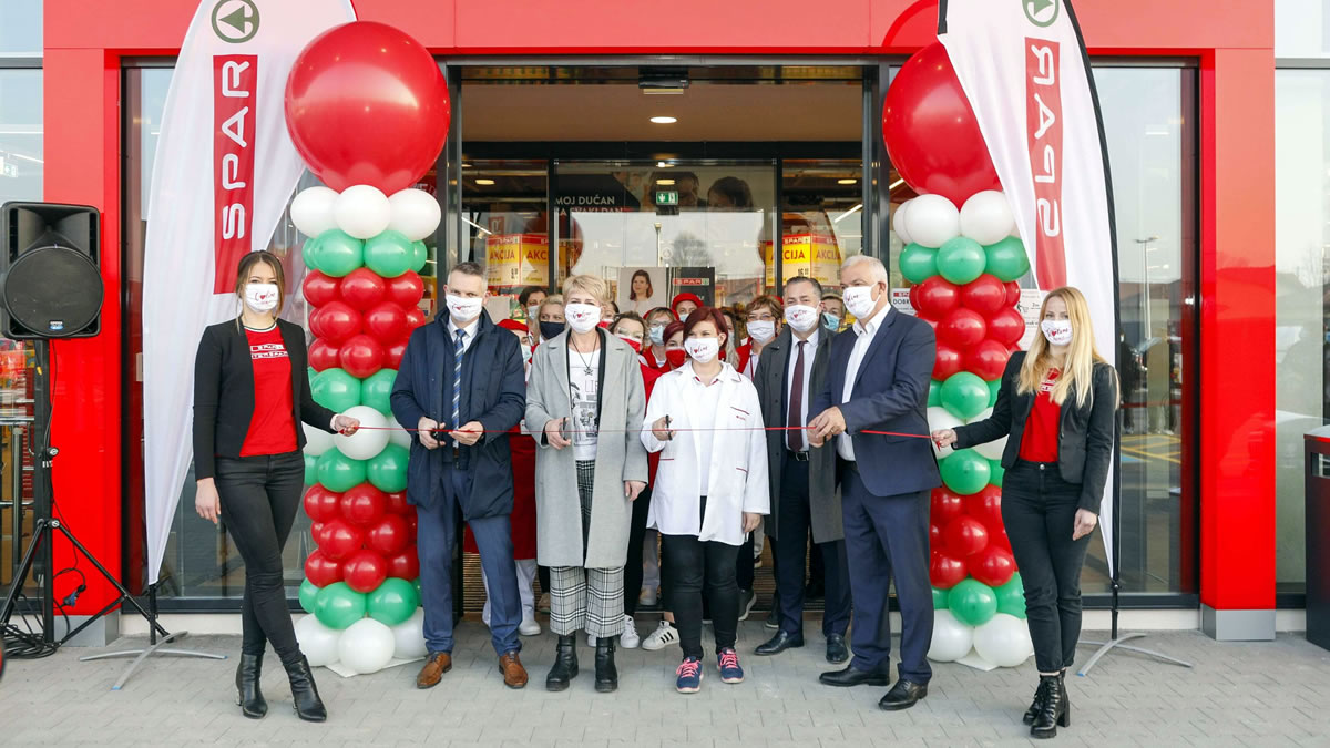 svečnost otvorenja nove trgovine SPAR Ivanić Grad uz Javora Bojana Leša / veljača 2021.