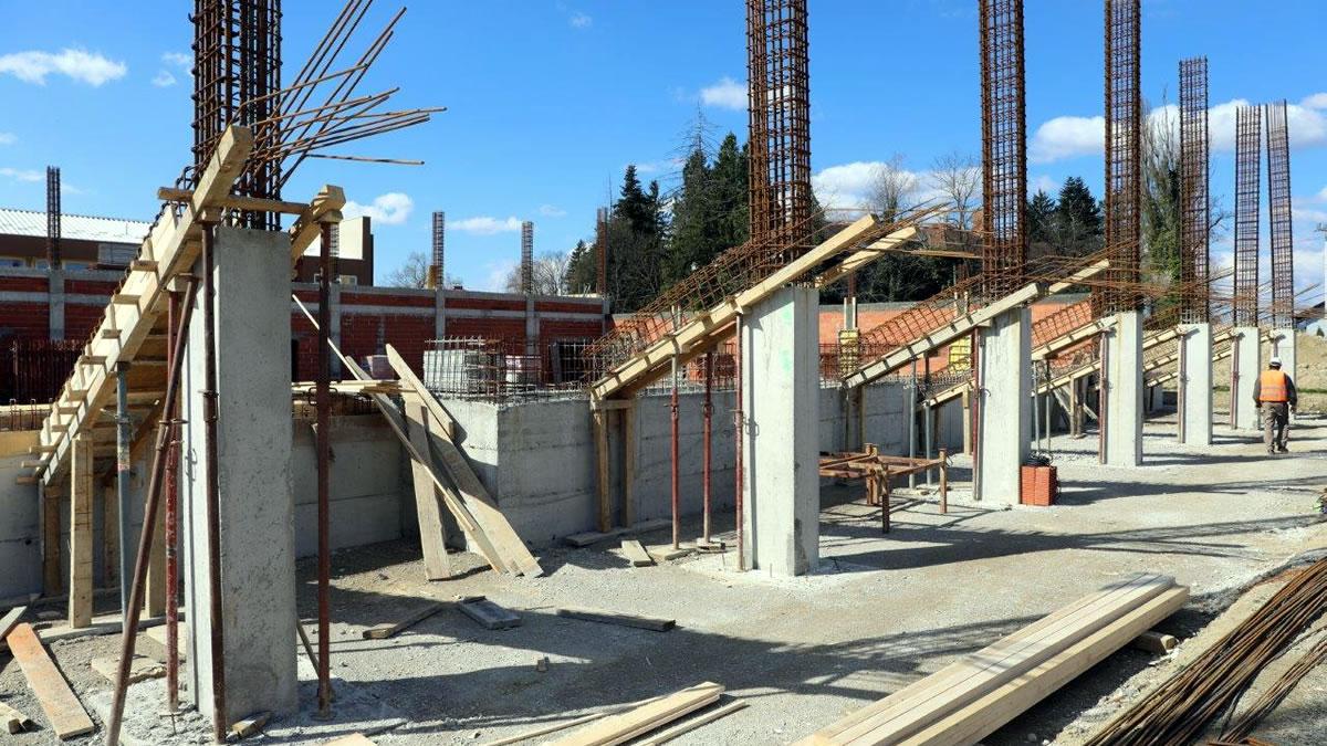 sportska dvorana klinča sela u izgradnji / ožujak 2021.
