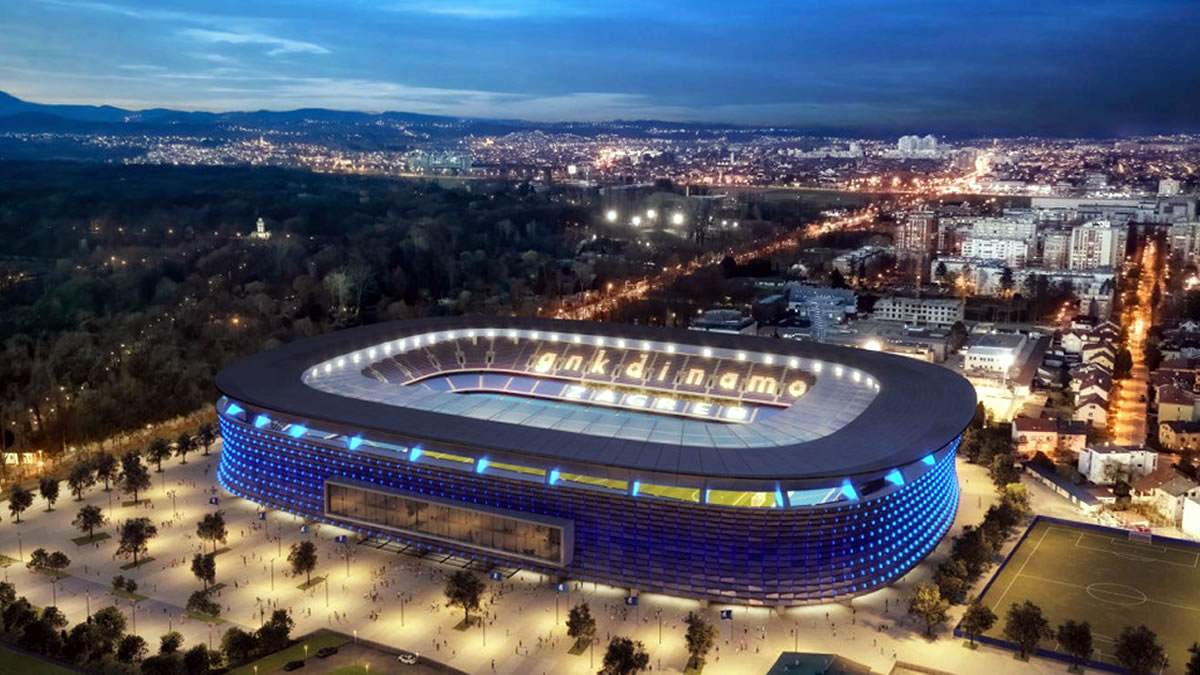 stadion maksimir - dinamo zagreb / idejni projekt otta barića / 2021.