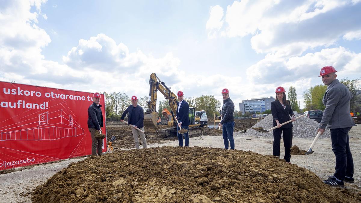 početak izgradnje upravne zgrade - kaufland - donje svetice, zagreb - 2021.
