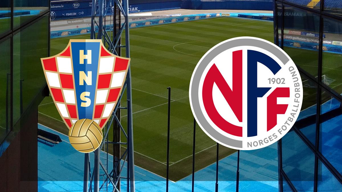 hrvatska - norveška / nogometna utakmica / 2021.