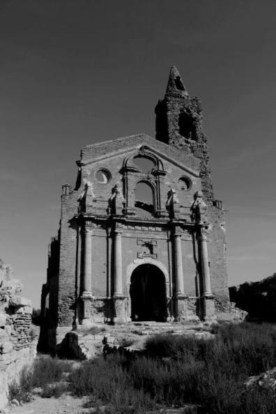 La iglesia de San Martín se convirtió en un Hospital durante la guerra. Fuente: M.I