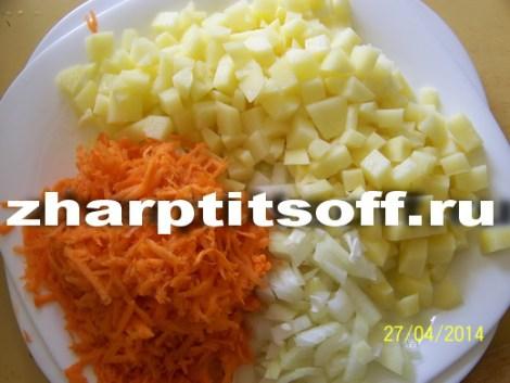 2Измельчаем овощи