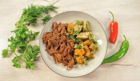 Тушенка из утки в скороварке. Готовим с морковью, корнем сельдерея.