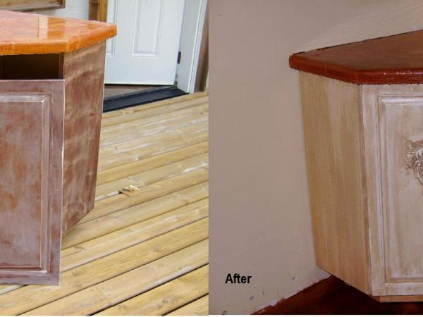 Before Amp After Photo Of Cabinets Refurbished Art Will
